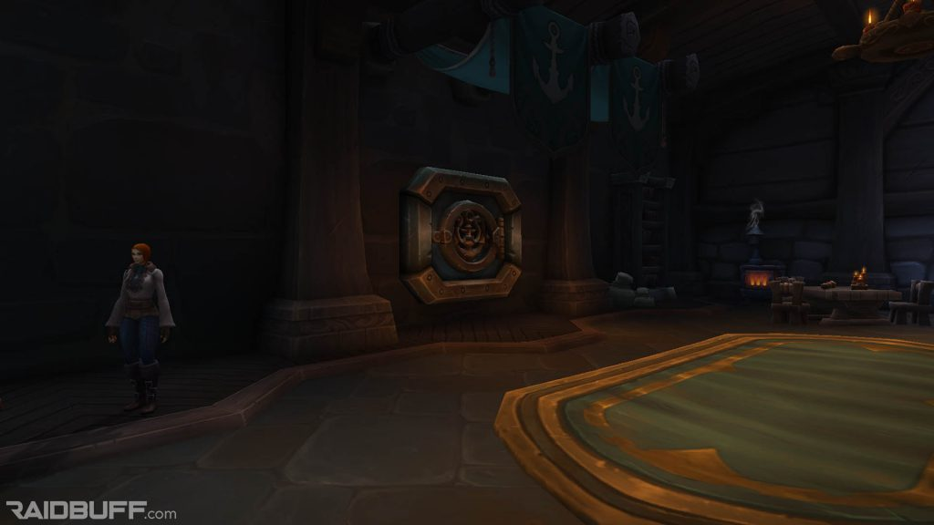 A screenshot of the guild bank vault in Boralus