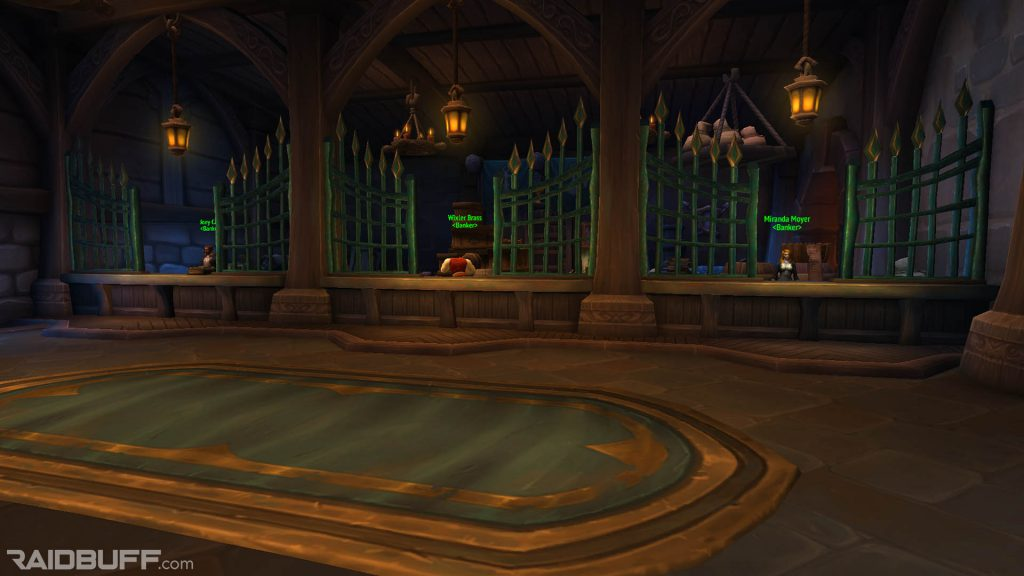 A screenshot of the bankers in Boralus