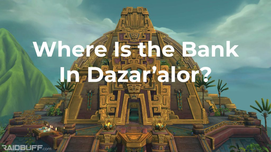 "An image of The Great Seal with the words, ""Where Is the Bank In Dazar'alor?"" overlayed on it"