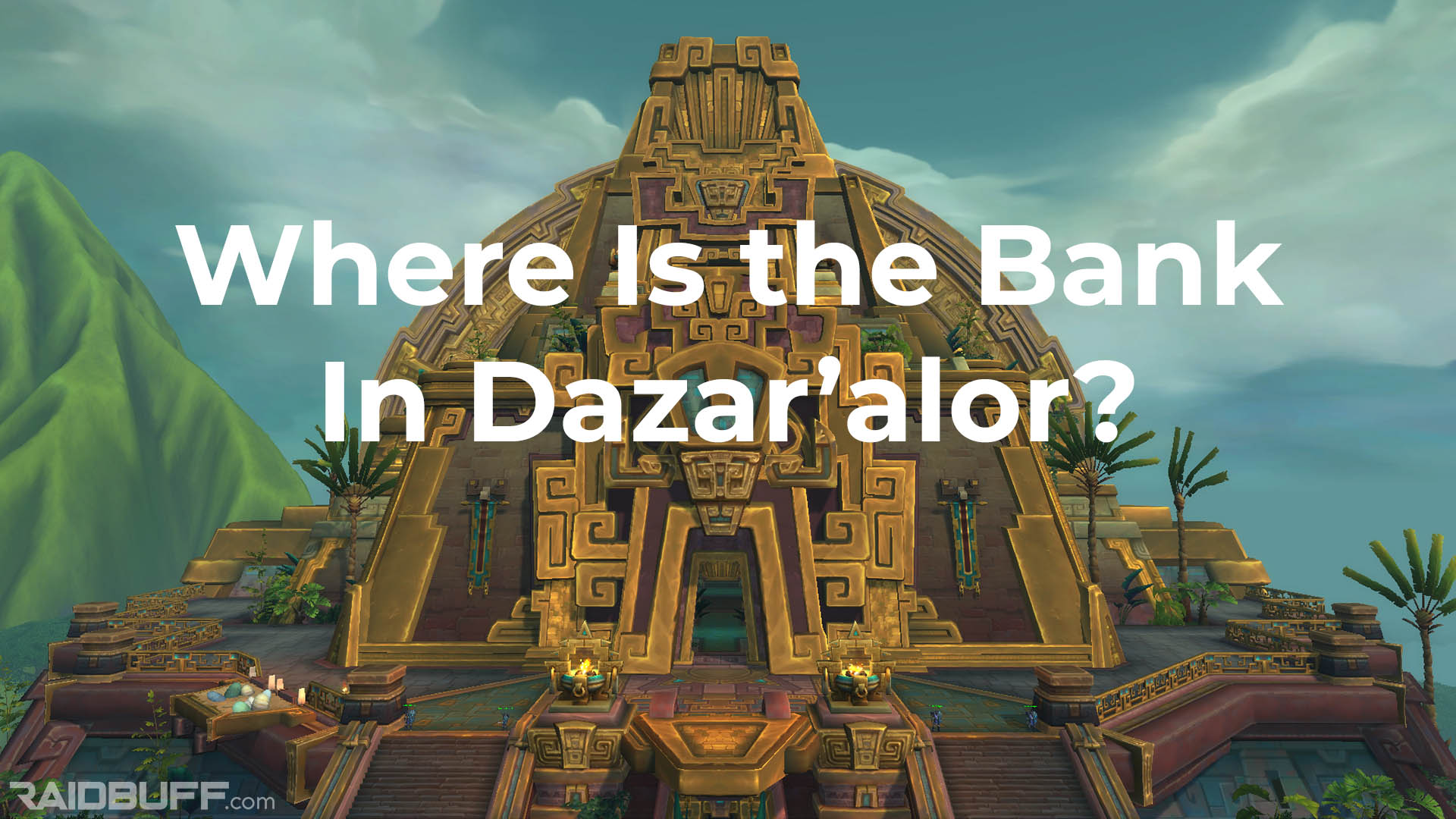 """An image of The Great Seal with the words, """"Where Is the Bank In Dazar'alor?"""" overlayed on it"""