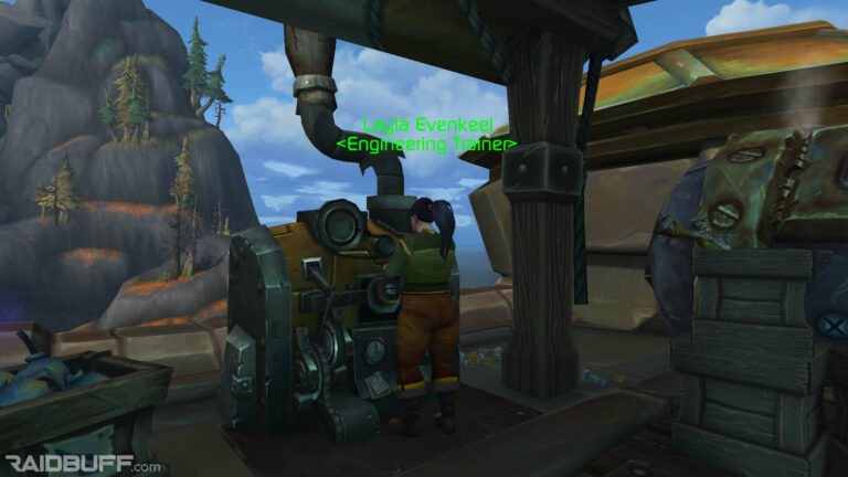 Where is the Engineering Trainer in Boralus?