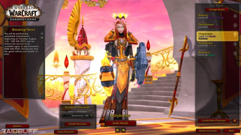 How To Create a Character Copy on the WoW Shadowlands Beta