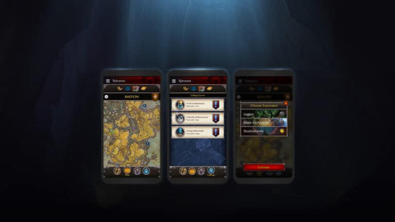 New Version of the WoW Companion App Launching with Shadowlands