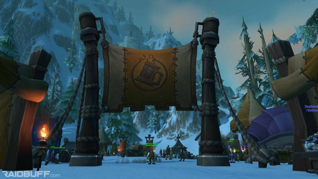 The Brewfest area outside of Ironforge