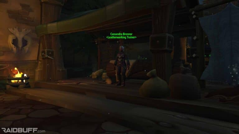 Where is the Leatherworking Trainer in Boralus?