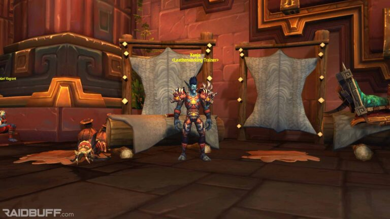 Where is the Leatherworking Trainer in Dazar'alor?