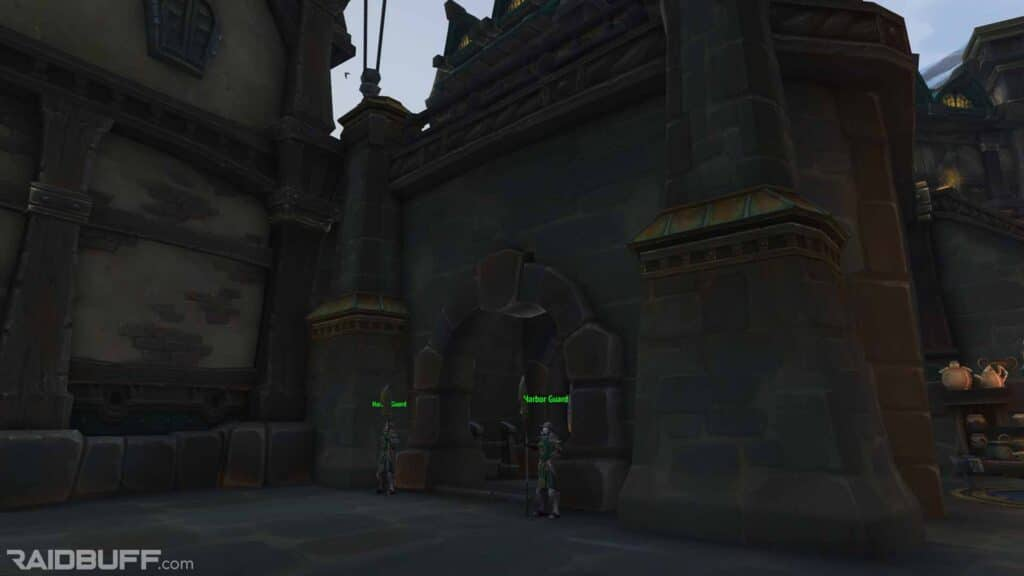 The Outside of the Boralus Portal Room, The Sanctum of the Sages