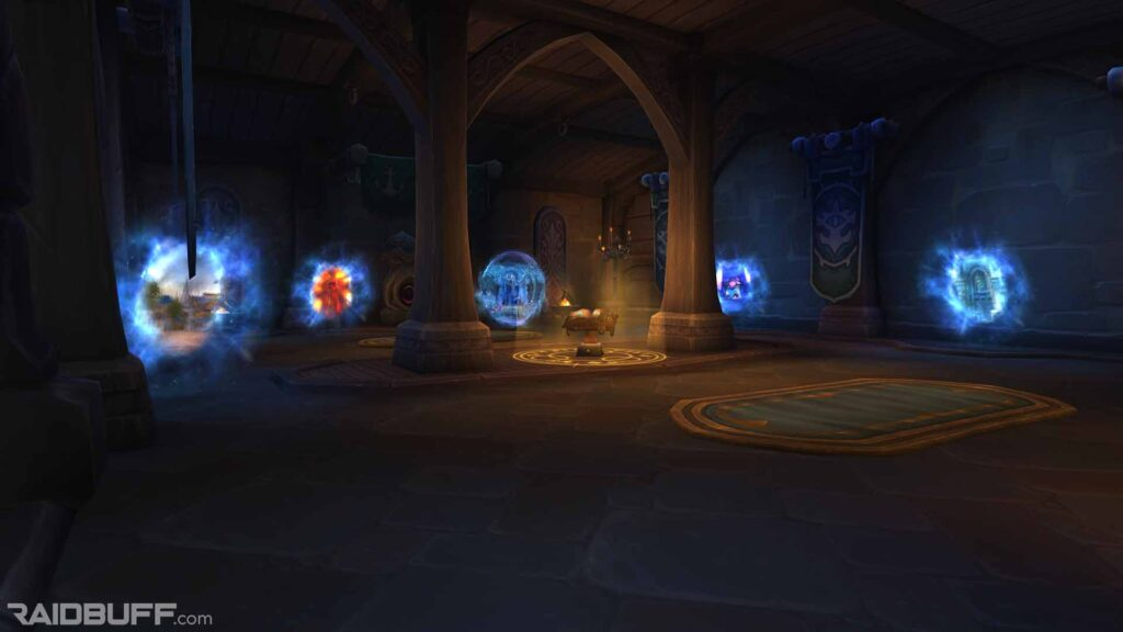 The portals in the Boralus Portal Room, The Sanctum of the Sages