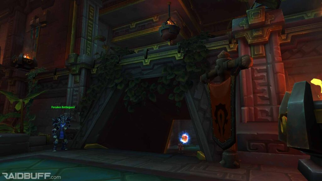 The outside of the Dazar'alor Portal Room, the Hall of Ancient Paths, in the Great Seal