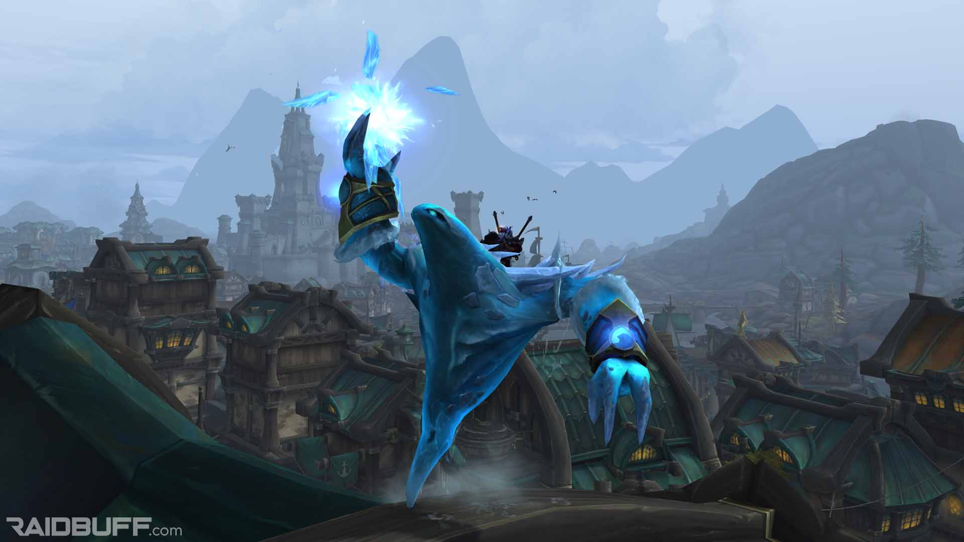 Glacial Tidestorm Mount, which drops off of Jaina in Mythic Battle for Dazzar'alor