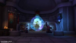 The Portal in Stormwind within the Wizard's Sanctumto Paw'don Village in the Jade Forest of Pandaria