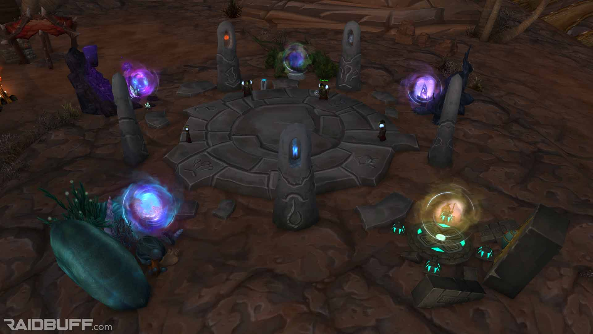 The Cataclysm Portals at the Western Earthshrine in Orgrimmar