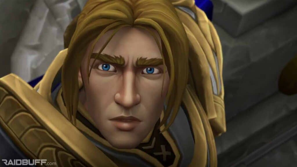 shadowlands dark abduction cinematic - anduin's face