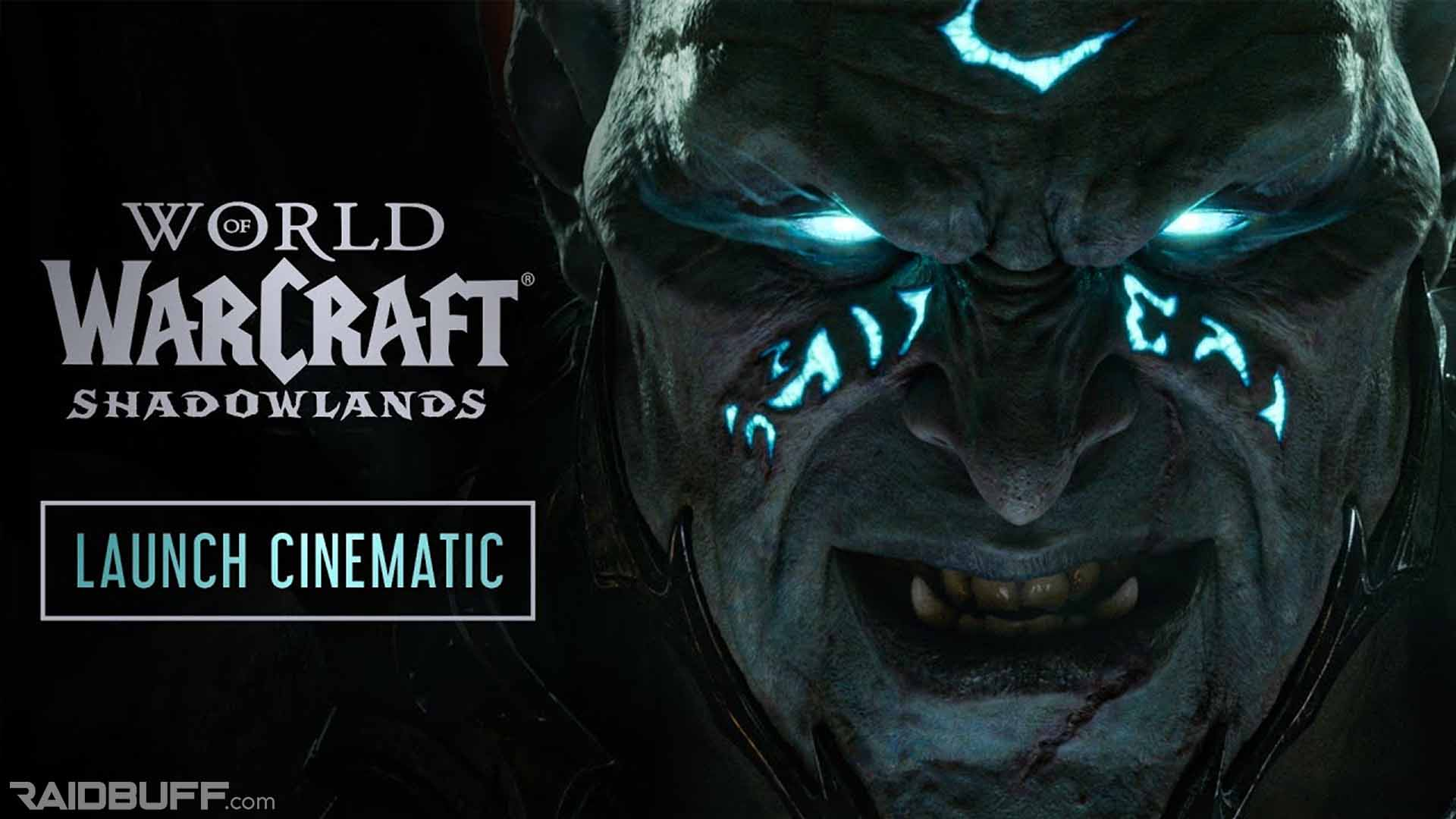 Shadowlands Launch Cinematic Thumbnail with the Jailer's Face