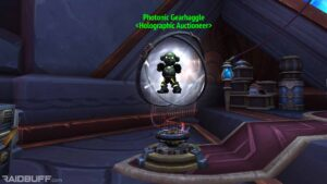 The Oribos Engineering Auction House, the Photonic Gearhaggle
