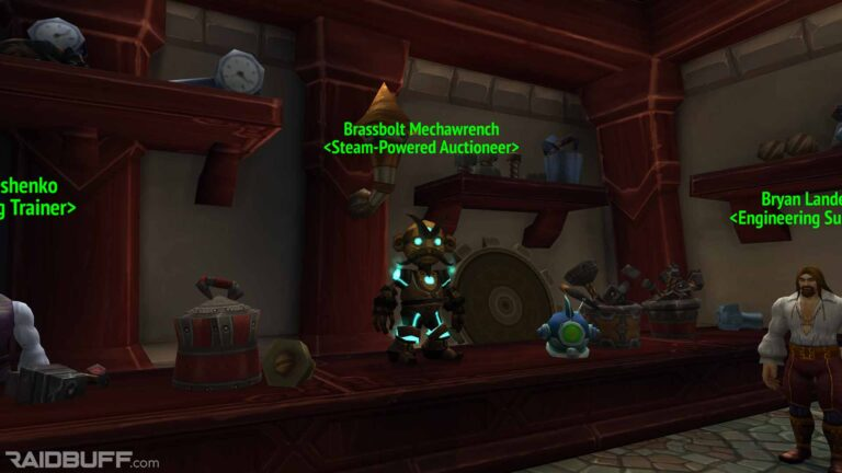Brassbolt Mechawrench Engineering Auction House in Old Dalaran/Northrend Dalaran