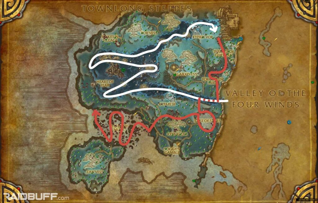 The Dread Wastes Pandaria Herbalism Leveling Route
