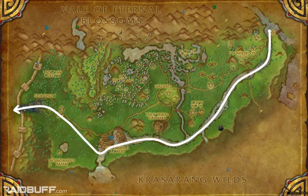 The Valley of the Four Winds Pandaria Herbalism Leveling Route